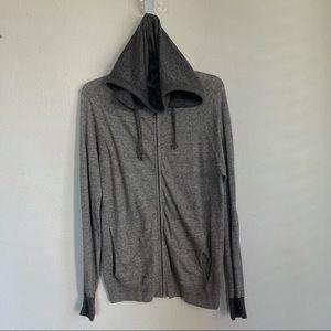 Billy Reid Linen Front Zip Hooded Jacket
